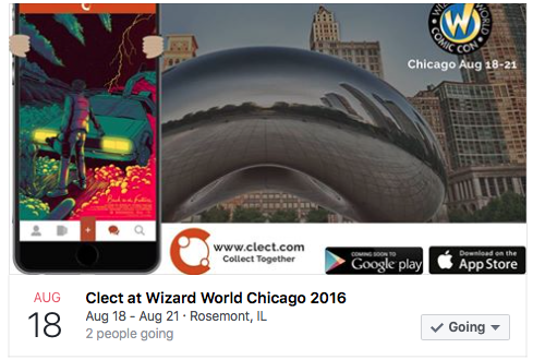Clect @ Wizard World Chicago Facebook Event Page
